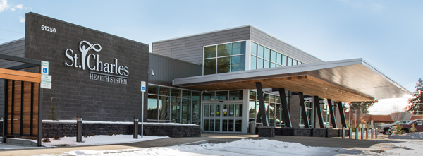 Exterior shot of the family care building at Bend South location